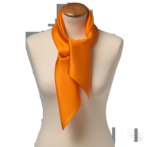 Pañuelo Naranja Seda Corbatas Y Pañuelos