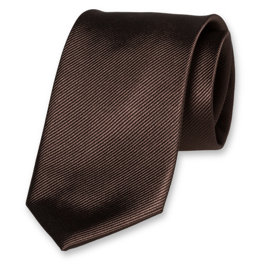 Corbata Marrón Chocolate - Seda (1)