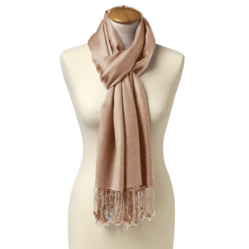 Pashmina Chal Beige (1)